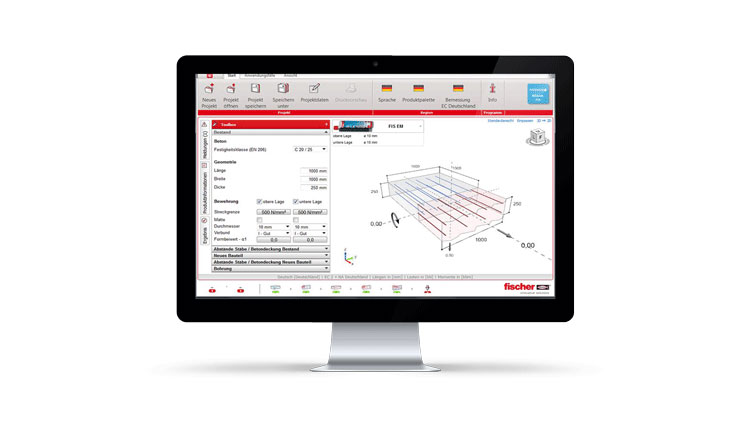 fischer design software FIXPERIENCE- Rebar-Fix